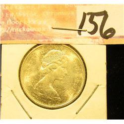 1968 Gem Unc Canada .500 fine Silver Quarter.
