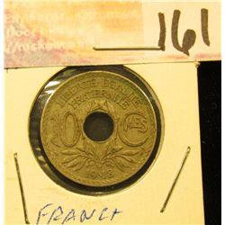 1918 France 10 Centimes.