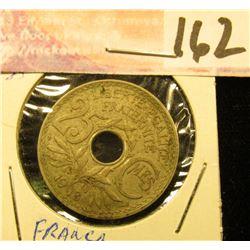 1918 France 25 Centimes.