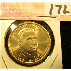 2014 D Gem Uncirculated Calvin Coolidge Presidential Dollar