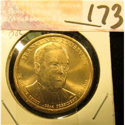 2014 D Gem Uncirculated Franklin Roosevelt Presidential Dollar