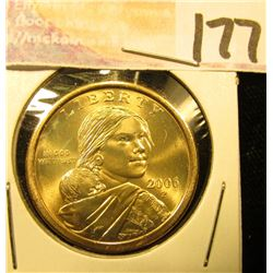 2006 P Gem Uncirculated Native American Dollar.