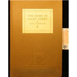 "Hardbound book embossed ""1939 New York World's Fair"" titled ""The Story of Lucky Strike"" by Roy C. Fl"