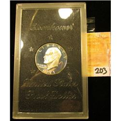 1971 S Eisenhower Silver Proof Dollar in original government issued plastic case.