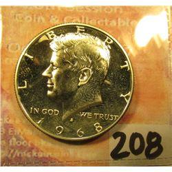 1968 S Proof Kennedy 40% Silver Half Dollar.