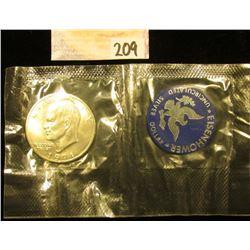 1971 S Eisenhower Silver BU Dollar in original government Mylar.