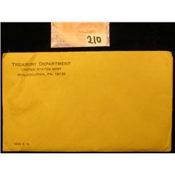 1964 P U.S. Proof Set in original unopened envelope.
