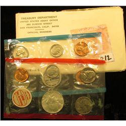 1968 40% Silver U.S. Mint Set, P & D, original as issued.