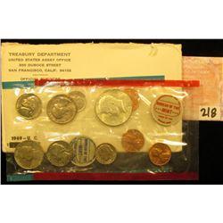 1969 U.S. Mint Set, original as issued.