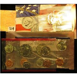 """1996 U.S. Mint Set with the """"W"""" Dime. Original as issuedl."""