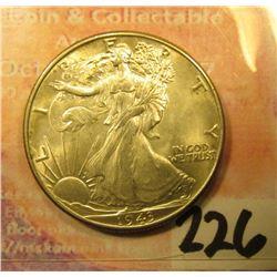 1943 P Walking Liberty Half-Dollar, BU-Unc.