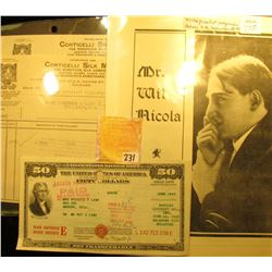 """Advertising Broschure """"Mr. Wil Nicola Magician"""", originally from Monmouth, Illinois, excellent condi"""