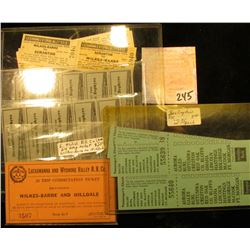 Nice group of Several different kinds of Old Rail Road Tickets, most with stubs attached.