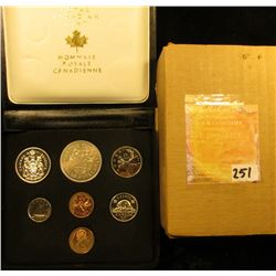 1871-1971 Royal Canadian Mint Double Cent Set in gold-embossed black velvet-lined box. Includes Cent