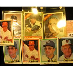 (5) different 1981 Donruss Baseball Cards; 1966 Original Topps #100 Sandy Koufax & Whitey Ford # 160