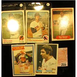 1982 Topps #159 Larry Bittner, 1981 Donruss # 591 Steven Michael Stone, 1982 Fleer # 82 Tom Seaver,