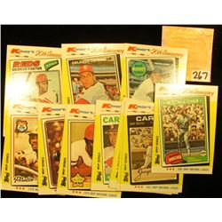 Group of (13) Better 1982 20th Anniversary Topps Baseball Cards.