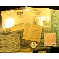 Nice selection of Rail Road Memorabilia, including covers, post cards, and ticket stubs.