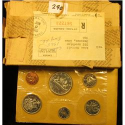 1965 Canada six-piece Mint Set with .800 Fine Silver Voyageur Dollar in original envelope as issue w