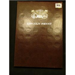 1911-79 Partial Set of Lincoln Cents in a brown Dansco folder. Includes a counterstamped cent with K