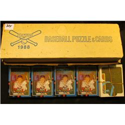1988 Donruss Baseball Puzzle & Cards. Many still wrapped in cellophane.