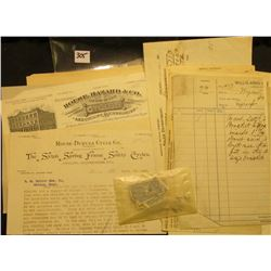 "Bicycle related Memorabilia: (3) invoices dating 1899 from ""Indiana Bicycle Co. Manufacturers of Wav"