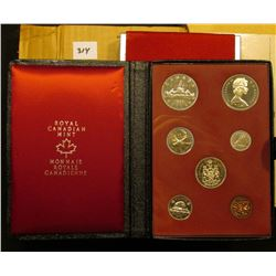 1972 Canada Double Dollar Prooflike Set in black simulated leather holder with red silk lining and o