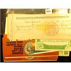 "World War II era psir of ""Official United States Savings Stamp Album""; (3) original U.S. Government"