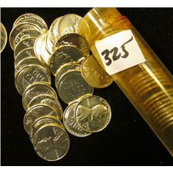 1943 D Roll of Reprocessed World War II Steel Lincoln Cents in a plastic tube. (50 pcs.).