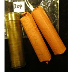 1917 P, 28 P, & 55 S Solid Date Rolls of U.S. Wheat Cents. Circulated.