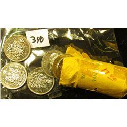 1968 Original BU Roll of nickel Canada Half Dollars. (20 pcs.).