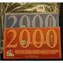 2000 Philadelphia & Denver U.S. Mint Set, Original as issued.