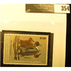 1983 RW50 Federal Migratory Waterfowl $7.50 Stamp, Unsigned, and unused. Gem.
