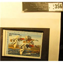 """1987 RW54 Printing Error """"Radical Color Shift creating Double Ducks"""" Federal Migratory Waterfowl $10"""