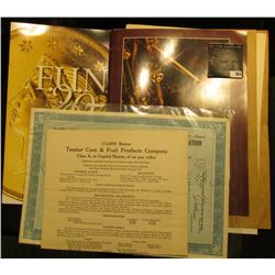 """Folding brochure for """"F.U.N. 2007"""" depicting an 1855 Fifty Dollar Gold Piece; Catalog with Gold Cast"""