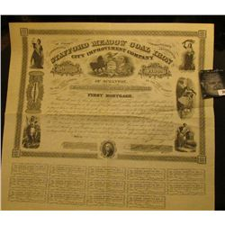 """14"""" x 15 1/2"""" First Mortgage Certificate """"United States of America Commonwealth of Pennsylvania Staf"""