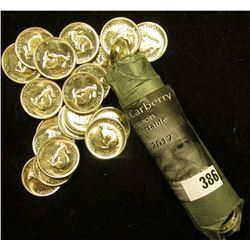 "1867-1967 ""Hare"" Confederation Original BU Roll of Nickels in original paper wrapper. (40 pcs.)."