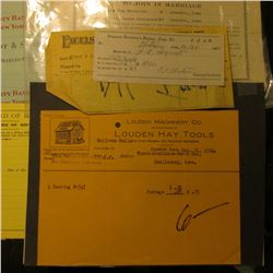 """(3) 1928 & 1931 Invoices """"Brighton Canning Company Manufacturers of Pure Food Products Brighton, Iow"""