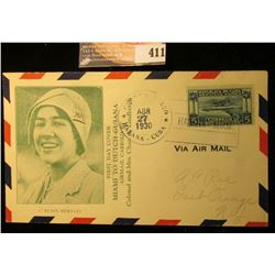 "April 27, 1930 Postmarked Havana, Cuba First Day Cover ""Miami to Dutch Guiana Airmail Carried by Col"