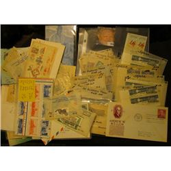 Interesting collection of both new and used U.S. Stamps including First Day Covers, Souvenir sheets,