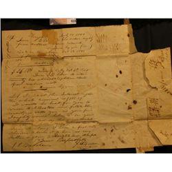 Letter address to James P. Bradshaw. Esqr., Iowa City, Iowa Territory from Knights Town, Ia.