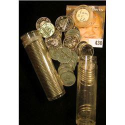 (80) Gem BU 1866 Canada Nickels in plastic tubes.