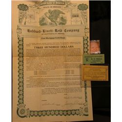 """United States of America State of Indiana $300 Hubbard-Kivett-Reid Company of Martinsville, Indiana"