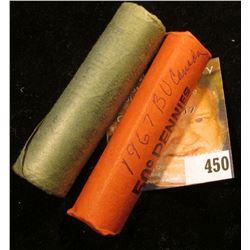 "1867-1967 Gem BU Rolls of Canada Confederation ""Hare"" Nickels & ""Dove"" Cents. (90 pcs.)"