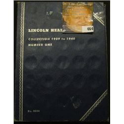 1909-40 Partial Set of Lincoln Cents in a Whitman folder, includes a 1909 P, 10 P, 11 P, 12 P, 13 P,