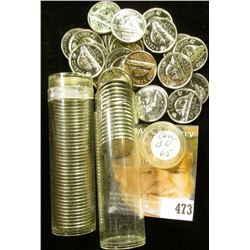 1965 & 66 Gem BU Rolls of Canada Nickels in plastic tubes.