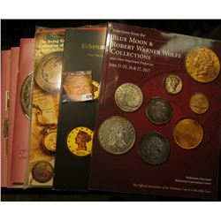 (7) different color large format Coin Auction Catalogs from such well known sites as Lyn Knight, Sup
