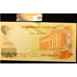 Viet Nam 500 Dong Banknote, Crisp uncirculated.