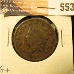1833 U.S. Large Cent, G+.