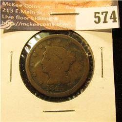 1845 U.S. Large Cent, G.